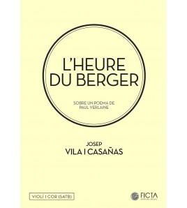 L'heure du berger para coro (SATB) y violín