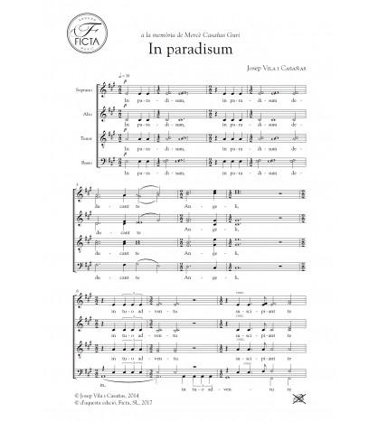 In paradisum for mixed choir (SATB)