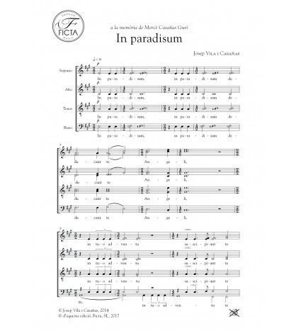 In paradisum per a cor (SATB)
