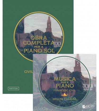 Música per a piano de Francesc Civil (partitura+CD)