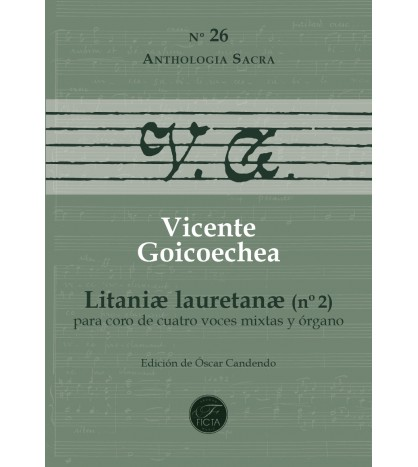 Litaniæ Lauretanæ (Nº 2) for choir (ATTB) and organ