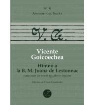 Himno a la B. M. Juana de Lestonnac per a cor (SSAA) i orgue