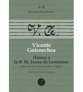 Himno a la B. M. Juana de Lestonnac for choir (SSAA) and organ