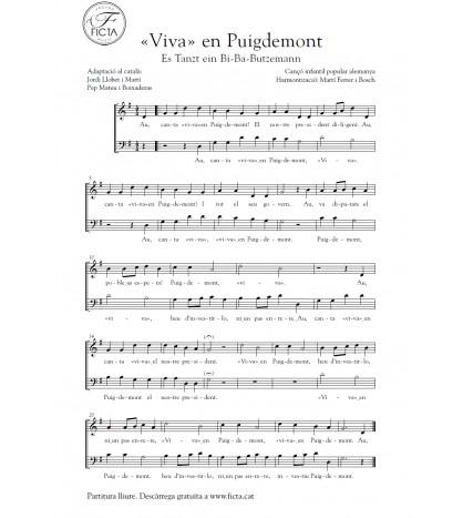 """""""Viva"""" en Puigdemont (2 veus mixtes)"""