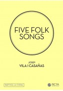 Five folk songs (SA - piano) particela