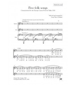 Five folk songs ( SA - piano ) - vocal score