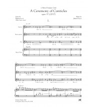 A ceremony of canticles - Choir (SMzA)and piano/harp