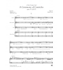 A ceremony of canticles - Coro (SMzA) y piano/harpa