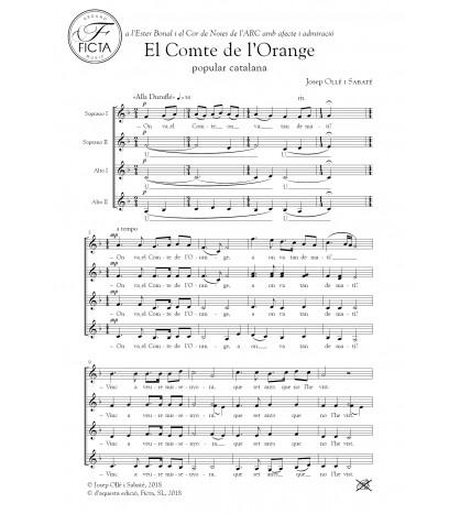 El Compte de l'Orange - Choir (SSAA)