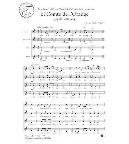 El Compte de l'Orange - Coro (SSAA)