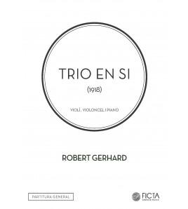 Trio en Si para violín, violoncelo y piano
