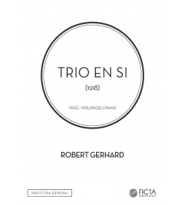 Trio in B for violin, cello and piano