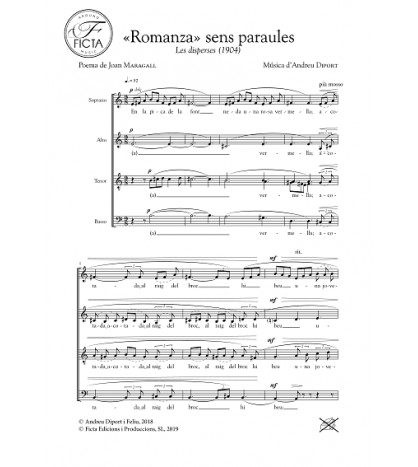 «Romanza» sens paraules - Cor (SATB)