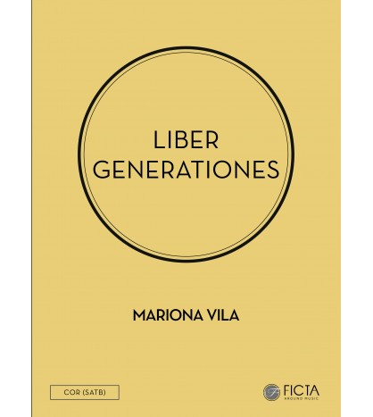 Liber generationes - Choir SATB