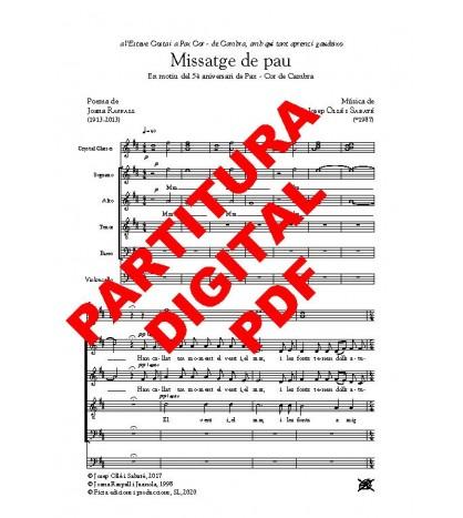 Missatge de pau - Cor (SATB), violoncel i copes