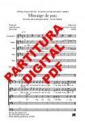 Missatge de pau - Cor (SATB), violoncel i copes DIGITAL