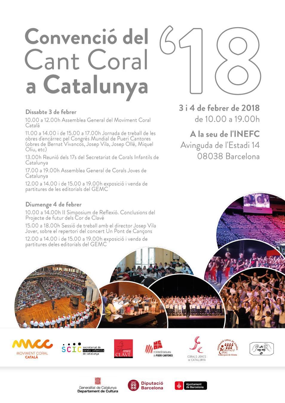 Programa de la Convenció del Cant Coral a Catalunya 2018